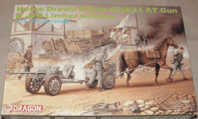 Horse Drawn 2,8 cm sPzB41 AT Gun & JF8 Limber w/Crew - Dragon 1:35